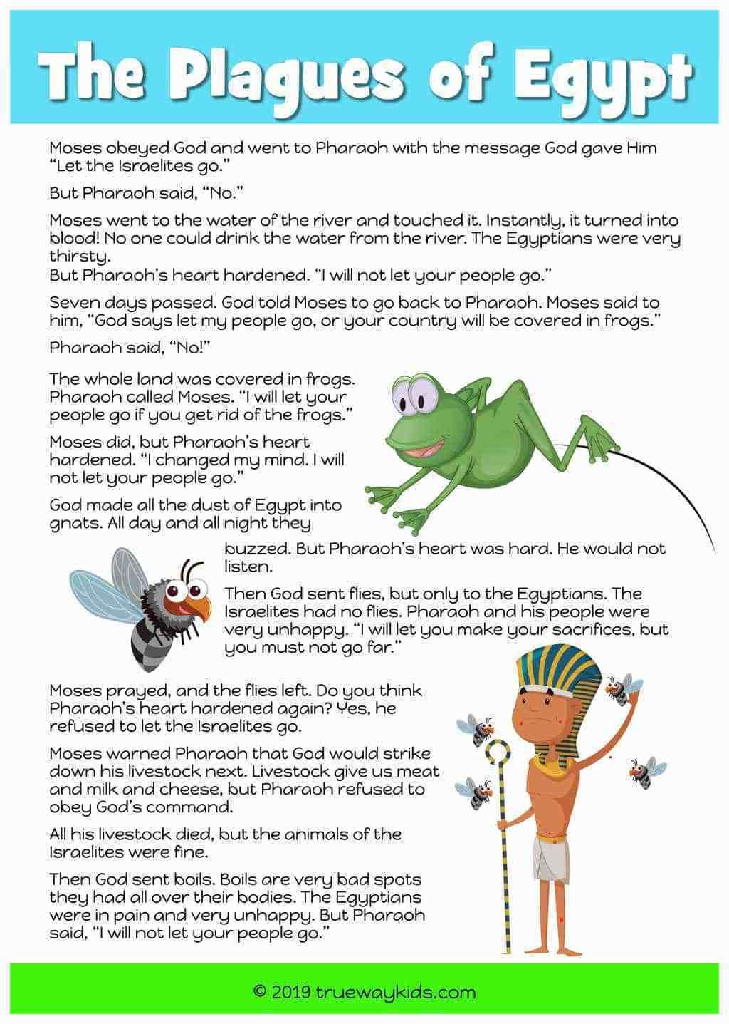 Free printable Bible story and lesson - The Plagues of ...