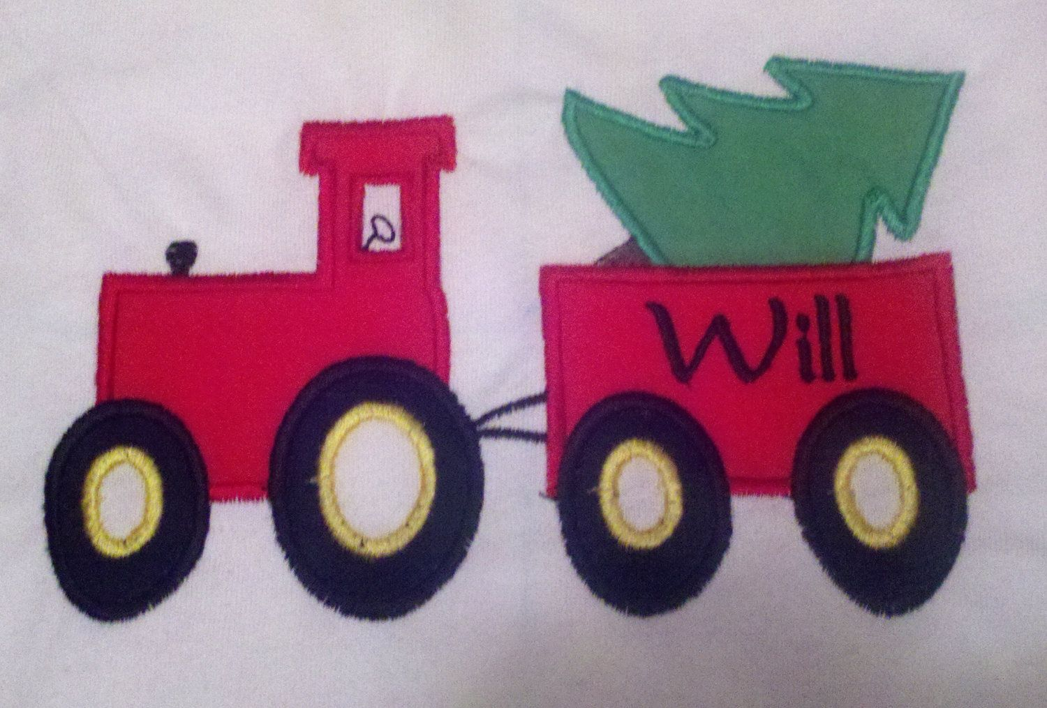 Personalized Tractor with tree Christmas Shirt