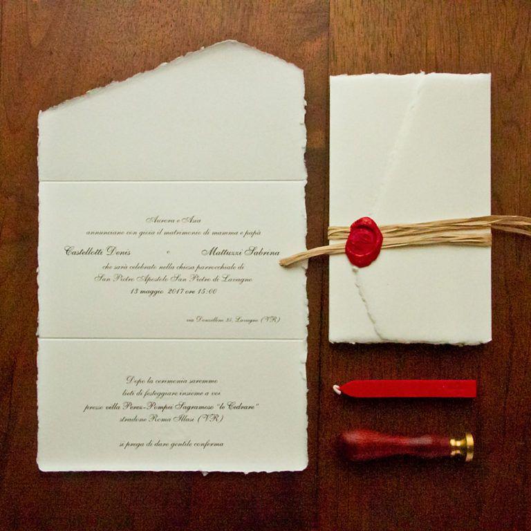Partecipazione Di Nozze Con Ceralacca Modello 1 Partecipazionipermatrimonio Com Partecipazioni Nozze Partecipazioni Per Matrimonio Inviti Di Nozze