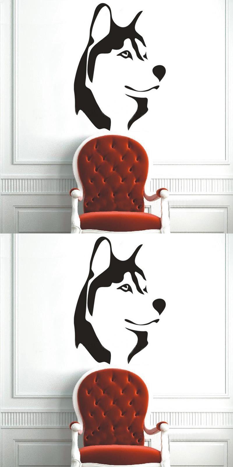 Vinyl Wall Stickers Wolf Husky Dog Predator Nature Tribal Animal ...