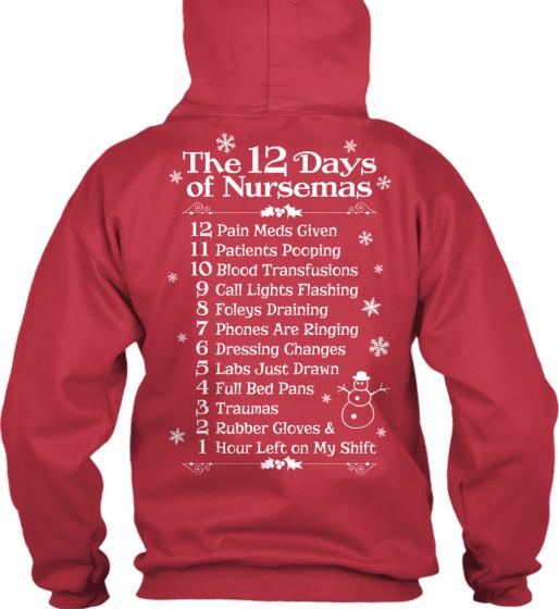 "12 Days Of Christmas Gifts For Girlfriend: 12 Days Of ""Nurse""mas Christmas Shirts"