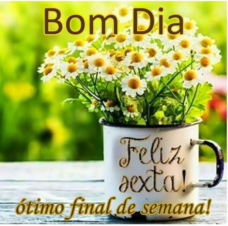 Bom dia feliz sexta, ótimo final de semana!