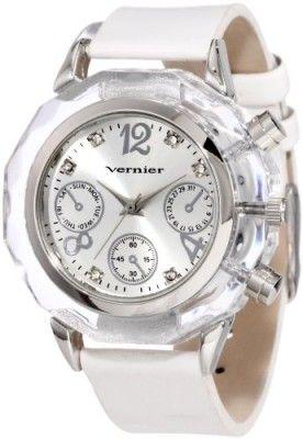 eda502bb4ab Relógio Vernier Women s VNR11093SS Deco Pushers Polyurethane Quartz Watch   Relógio  Vernier