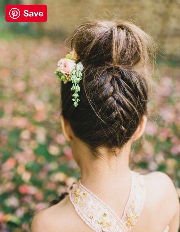 pindaniela monje on wedding  flower girl hairstyles