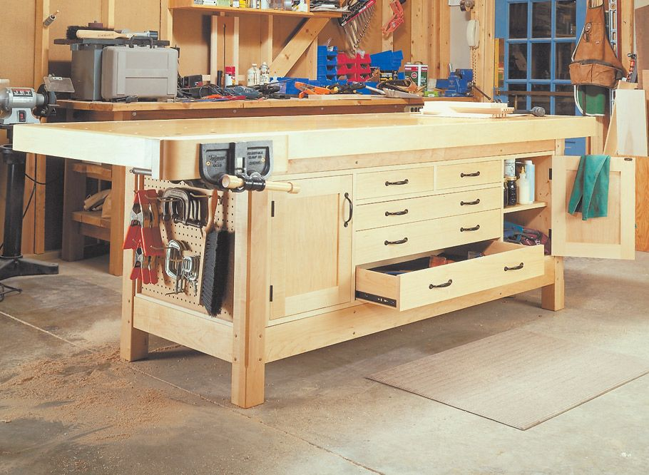 Rock Solid Workbench Woodworking Project Woodsmith Plans In