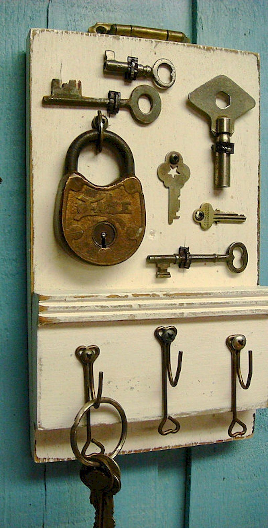 55 Rustic Key Holder Organized Ideas