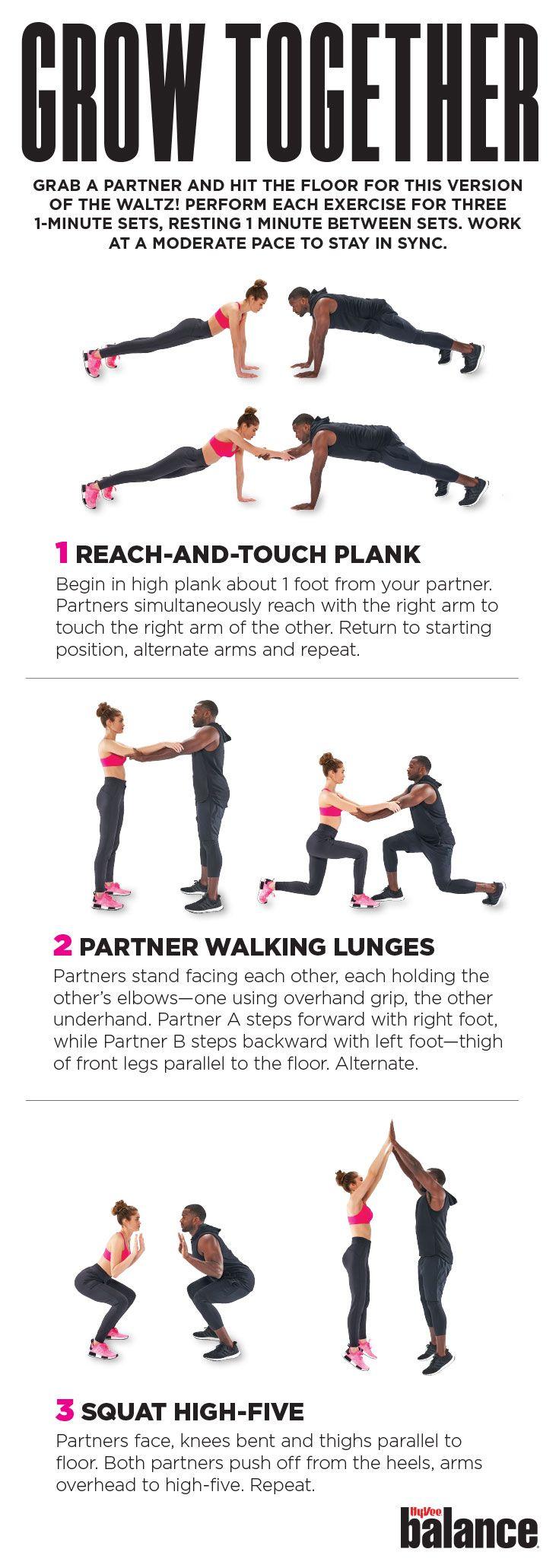 Partner Exercises Partner Workout Exercise Partners