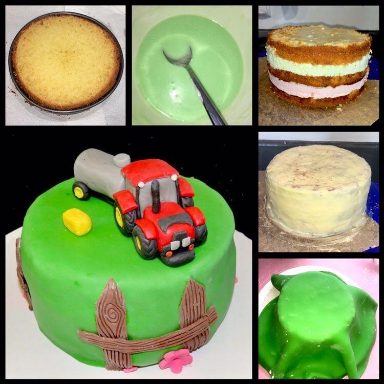 Kleine Traktor Torte Small Tractor Cake Sabrinas Kuchenchaos In 2020 Cake Tractor Cake Torte