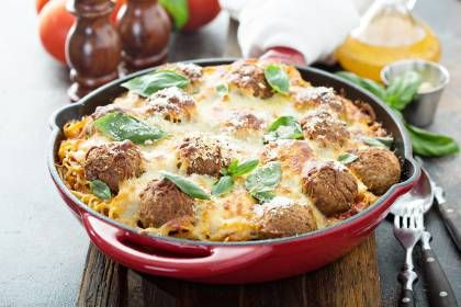 Photo of Hearty meatball casserole with spaghetti
