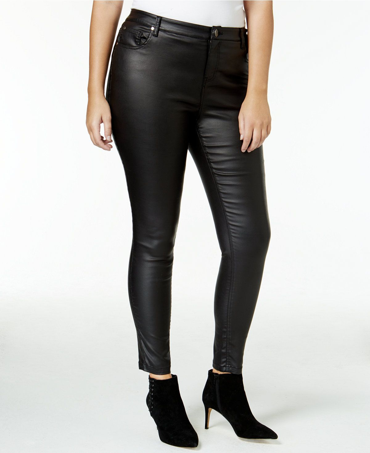mblm by Tess Holliday Trendy Plus Size Faux-Leather Pants | Shops ...