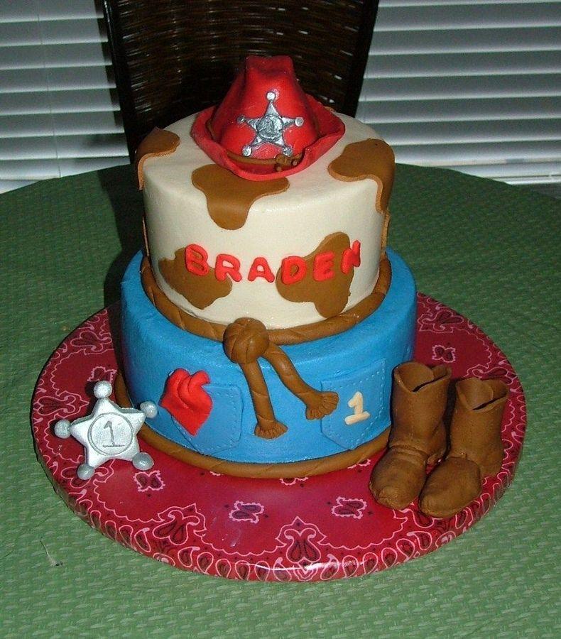 Cowboy First Birthday Cake Cowboy Western First Birthday