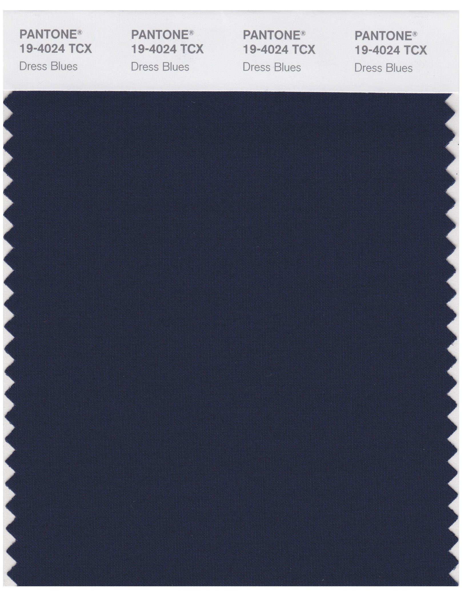 Pantone Smart 19-4024 TCX Color Swatch Card | Dress Blues ...