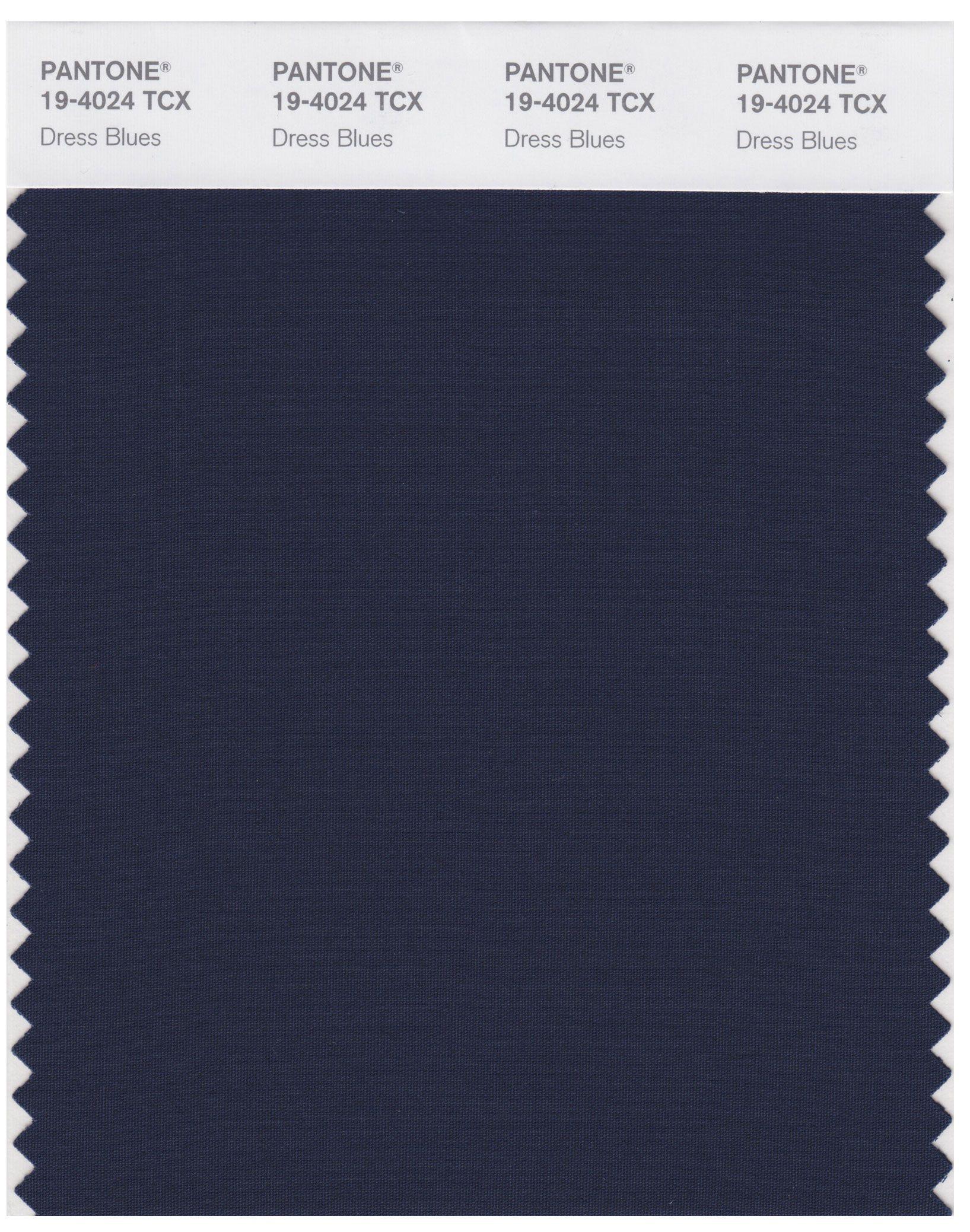 Pantone Smart 19-4024 TCX Color Swatch Card | Dress Blues ...