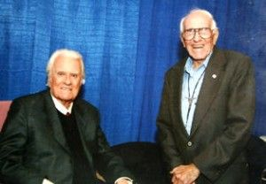 Billy Graham (left) and Louis Zamperini (right)