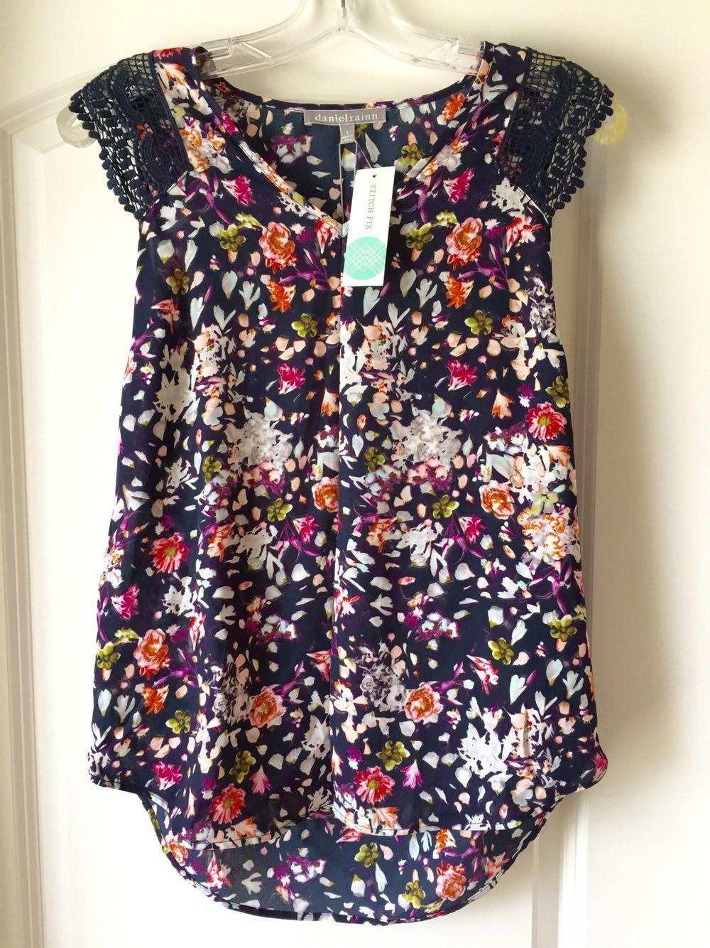Daniel Rainn Eliza Crochet Detail Blouse -- love the colors & pattern but  this brand never fits me correctly. rawr.