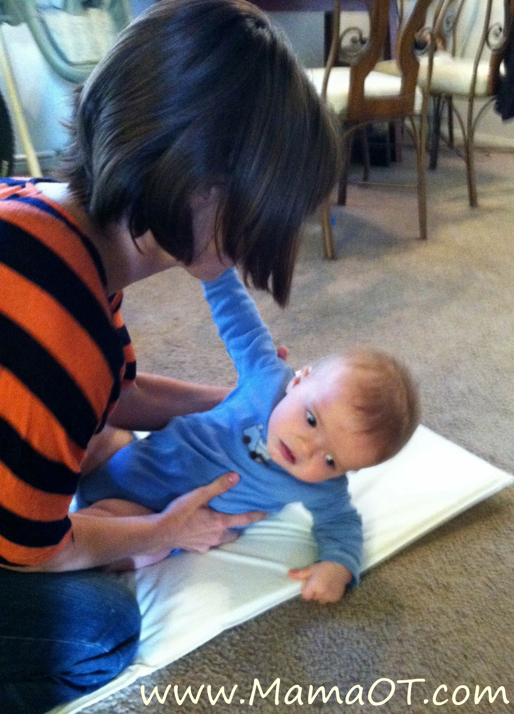 Infant Baby Care Tips : How to Help a Baby Roll Over - YouTube