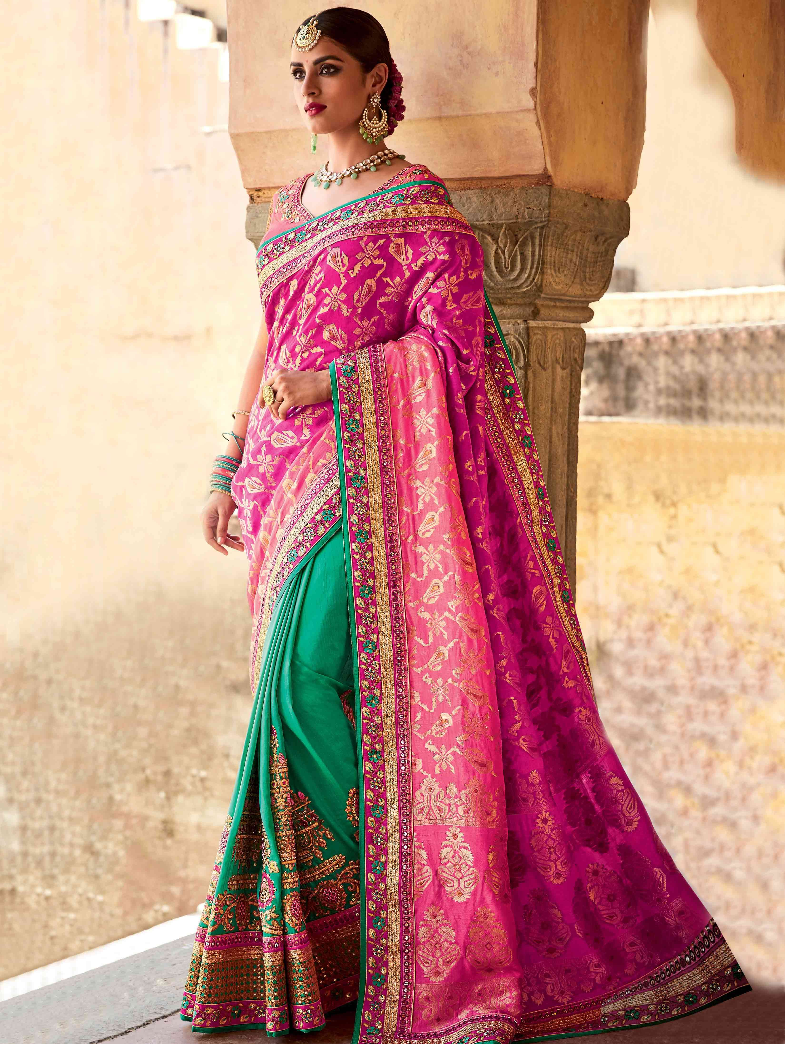 4a02540380b573 Asopalav's Indian Wear Online store for Sarees, Salwar Kameez Suits,  Lehenga Choli, Wedding Outfits and Bridal Saris.