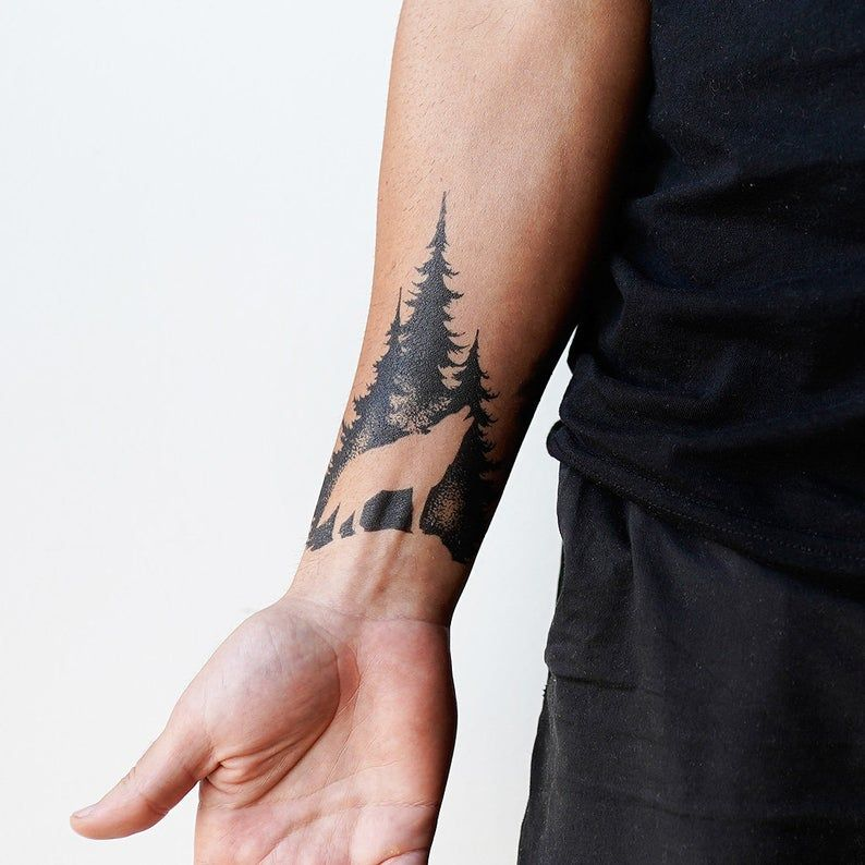 Lone Wolf Tattoo  Temporary Tattoo / Wolf Tattoo / Wolf | Etsy