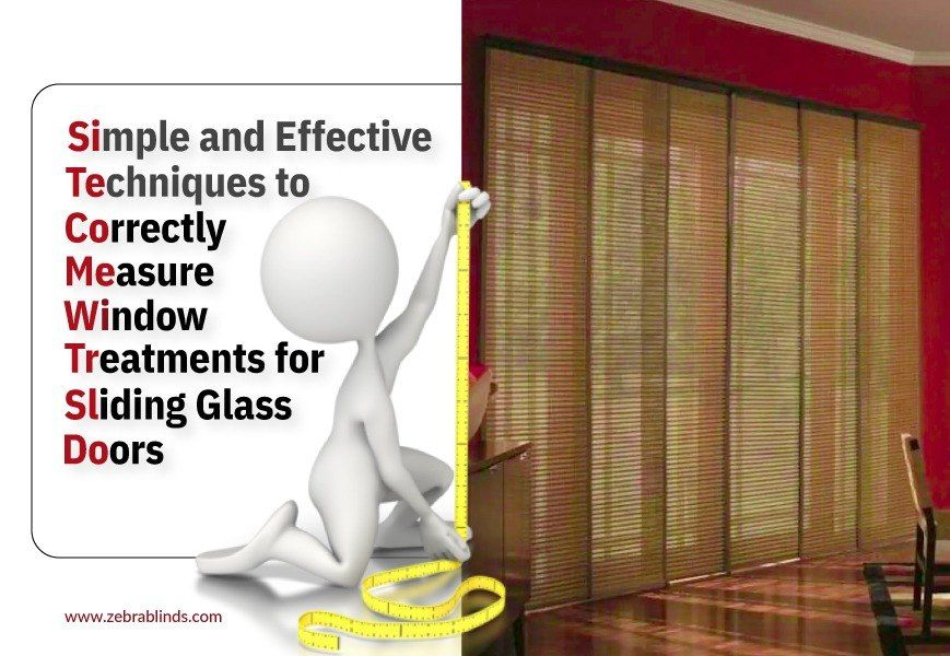 How to measure drapes for sliding glass door