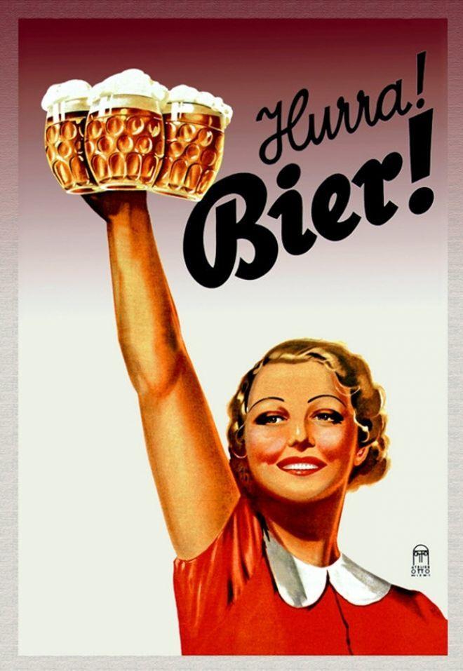 Hurra! Bier! Must be Oktoberfest!!! beer art poster ...