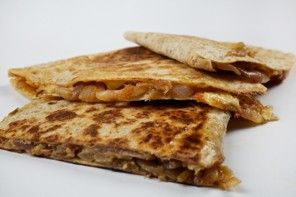 quesadillas with carmalized onions, quince and horseradish cheese - sissy highly recommends