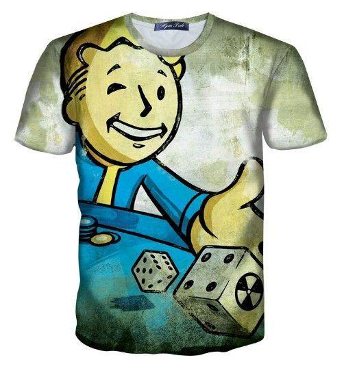 3d Print Short Sleeve T-Shirt