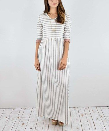 Another great find on #zulily! Dust Pink Stripe Pocket Maxi Dress #zulilyfinds