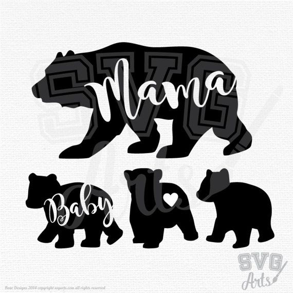 Bear Svg Bear Svg Bundle Mama Bear Svg Amp Papa Bear Svg