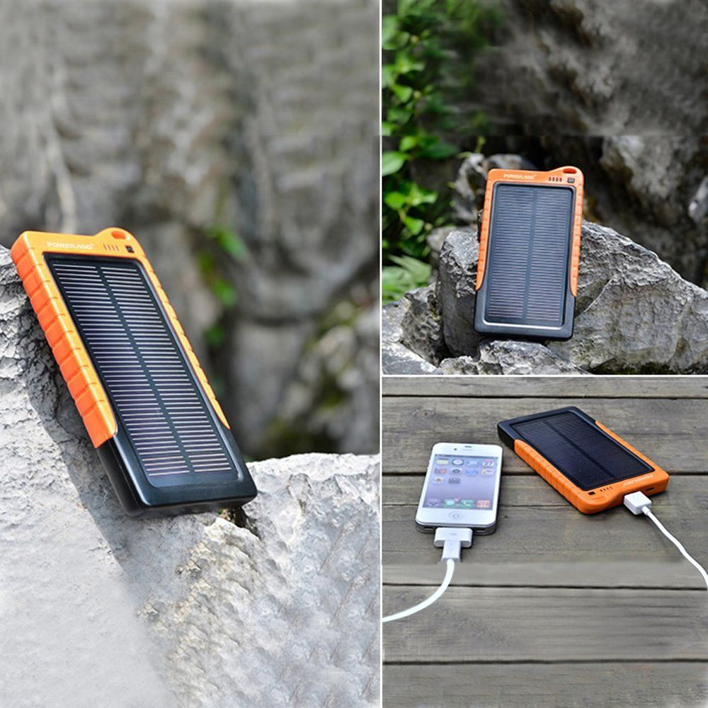 Poweradd™ Apollo 7200mAh Solar Panel Portable Charger