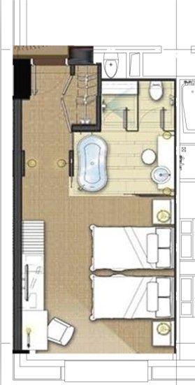 Hotel Guest Room Design: Hotel Room Design, Hotel Floor Plan, Hotel