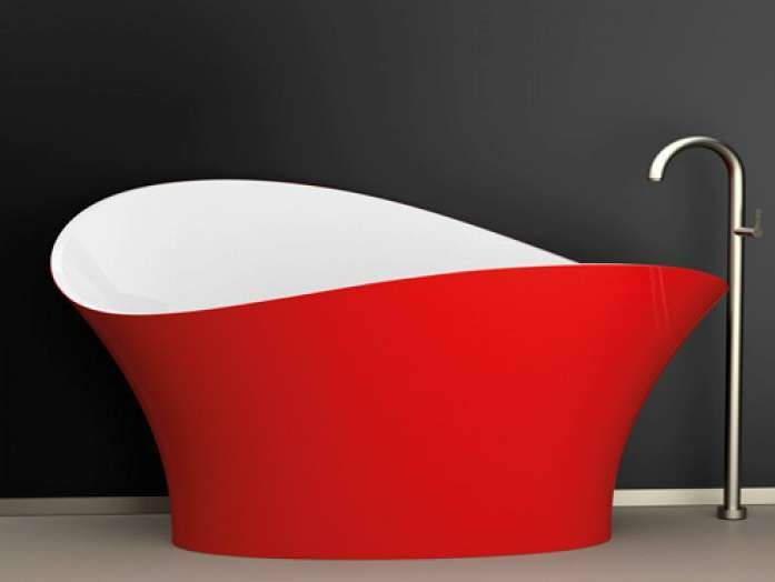 Bagno romantico ~ E complementi darredo di colore rosso vasca da bagno rossa