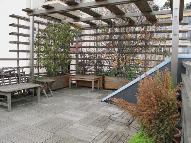 Pergola Planche A Plat Architecture Architecte Terrasse Paris