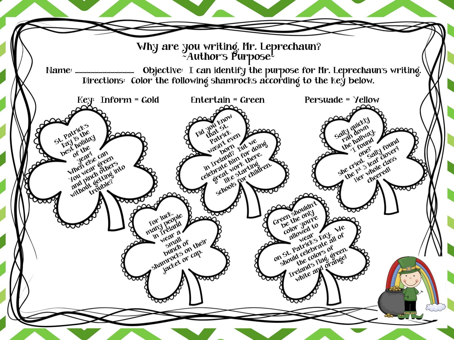st patricks day coloring pages fun page to review the concept