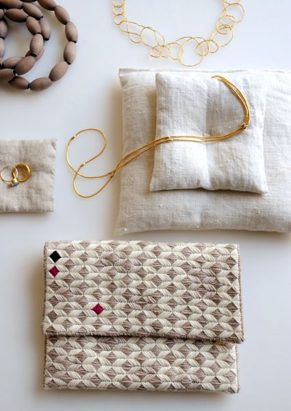 Laura's Loop: New Year's Needlepoint Clutch, Purl Soho