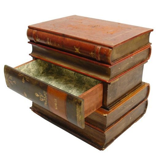 Amazing 1940s Trompe Lu0027Oeil Stack Of Books Side Table