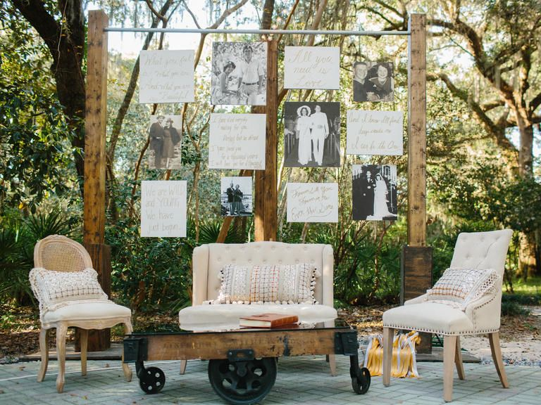 For An Easy Conversation Starter Create A Wall Of Family Wedding Photos Alternative Idea Showcase Your New