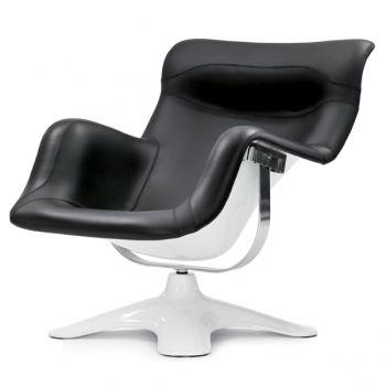 Karuselli tuoli, musta valkoinen | Nojatuoli, Tuoli, Lounge