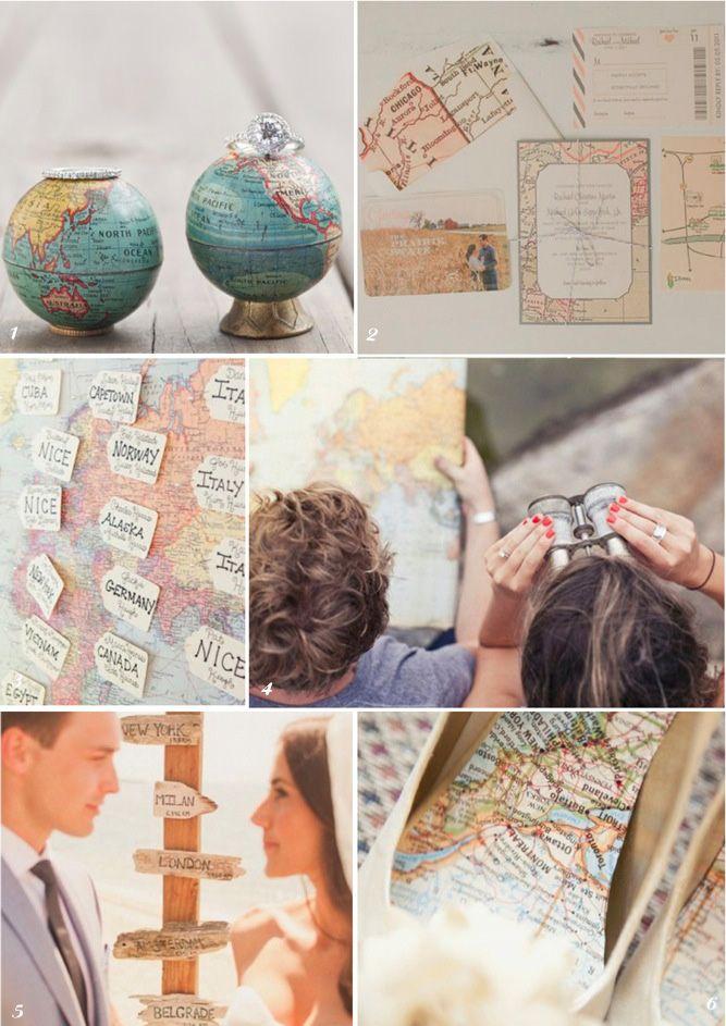 Top 10 Unique Travel Themed Wedding Ideas Inspiration Love