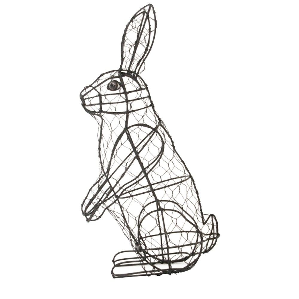 Rabbit Standing Topiary Mesh Wire Frame 33cm High | topiary ...