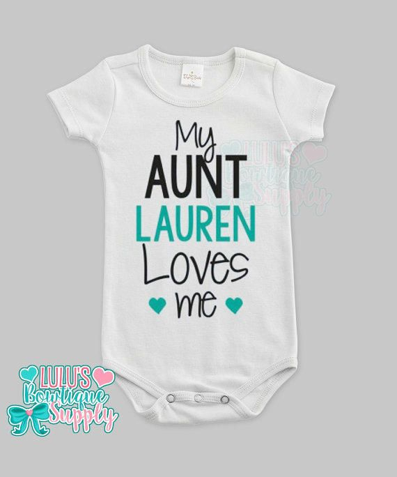Custom aunt love me custom baby bodysuit baby girl clothes aunt custom aunt love me custom baby bodysuit baby girl clothes aunt loves me custom name shirt baby gift custom baby from lulusbowtiquesupply2 on e negle Image collections