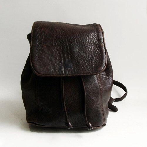 242ed94f37 Coach bag   brown leather book bag   1990s 90s bookbag purse   leather  drawstring purse
