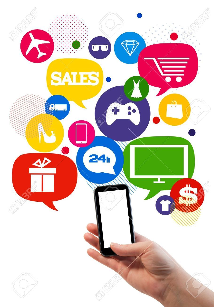 online shopping on phone Shopping pictures, Online sales