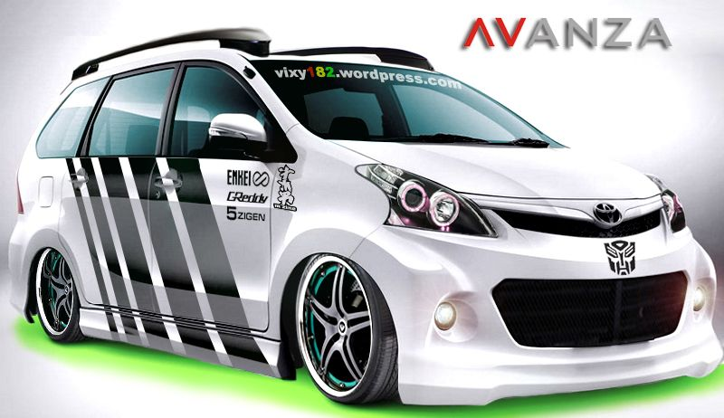 Modifikasi Mobil Toyota Avanza Putih Ceper Cars And Motorcycles