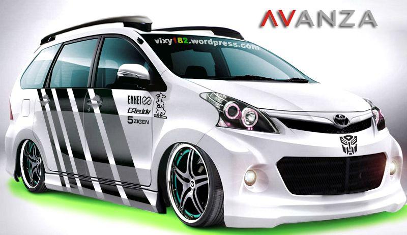 Modifikasi Mobil Toyota Avanza Putih Ceper