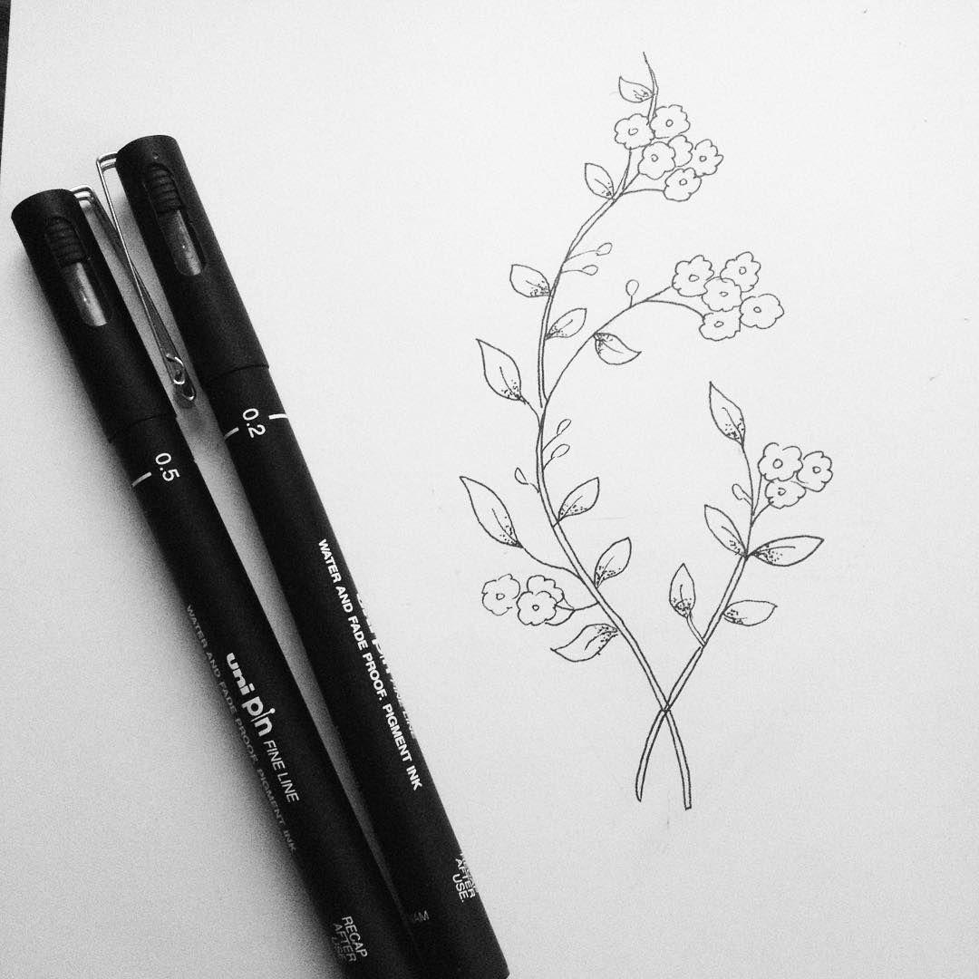 Small Flower Sketch Art Illustration Flowers Sketch Drawing