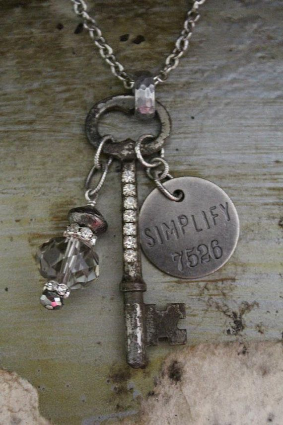 Simplify vintage key necklace by bellevia on etsy 3400 jewelry simplify vintage key necklace by bellevia on etsy 3400 aloadofball Image collections