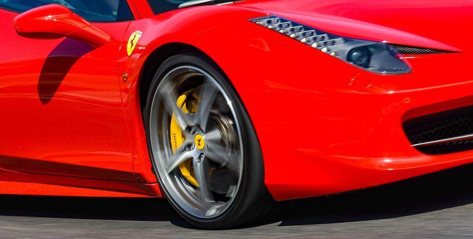 Kunstwerk: 'Ferrari 458 Italia sportwagen op hoge snelheid' van Sjoerd van der Wal #ferrari458italia Kunstwerk: 'Ferrari 458 Italia sportwagen op hoge snelheid' van Sjoerd van der Wal