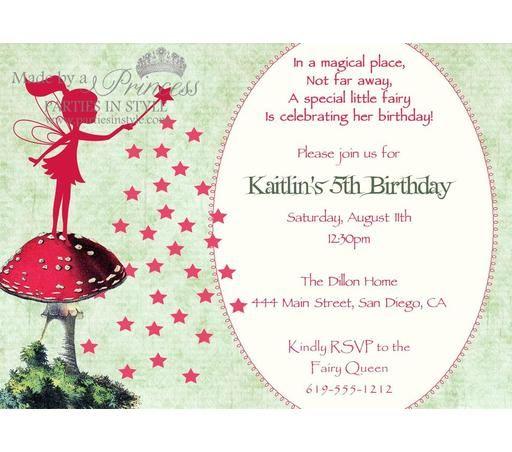 fairy invitation templates blank