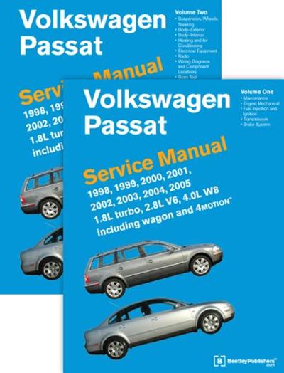 Volkswagen Passat B5 Service Manual 1998 1999 2000 2001 2002 2003 2004 2005 2 Volume Set By Bentley Publishers Bentley Publishers Volkswagen Passat Volkswagen Vw Passat