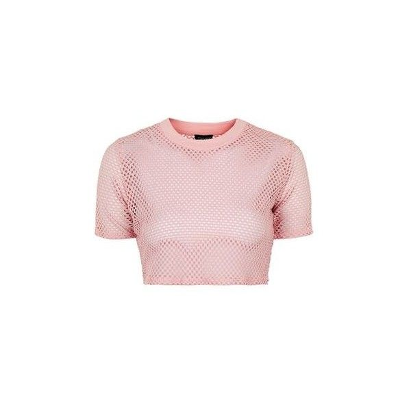 ba66e44951b TopShop Petite Airtex Crop Tee ($19) ❤ liked on Polyvore featuring tops, t- shirts, blush, sports t shirts, sport t shirt, topshop tops, crop tee and  ...